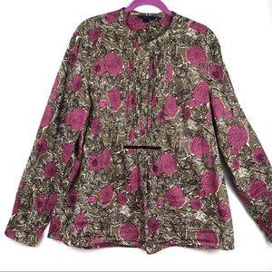 Boden | Women's Floral Print Peasant Style Blouse